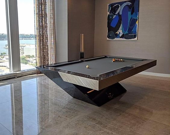 Typical slate pool table