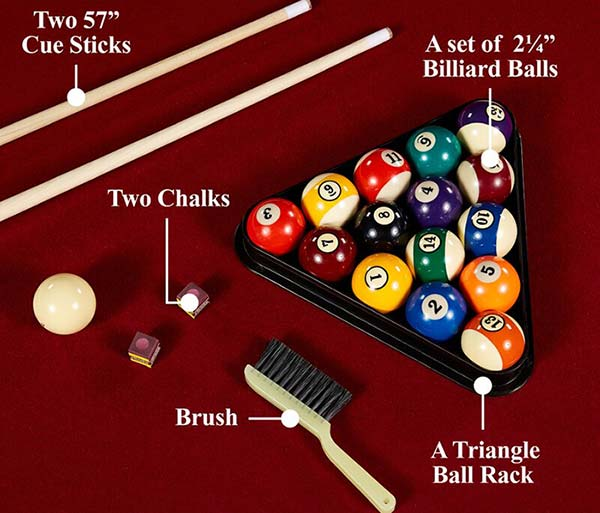 Accessories With The Barrington Billiard Pool Table
