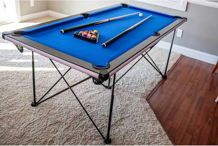 pop up 6' pool table